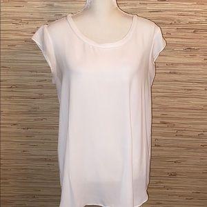 Banana Republic white Large short sleeve blouse